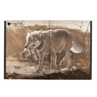Brunt för jaktvargmonokrom iPad air skal