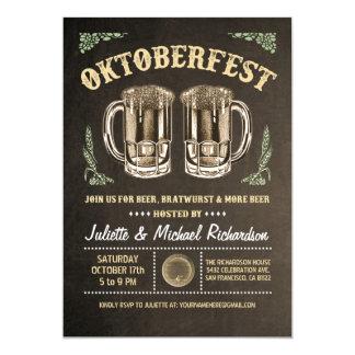 Brunt för oktoberfestinbjudningar   12,7 x 17,8 cm inbjudningskort