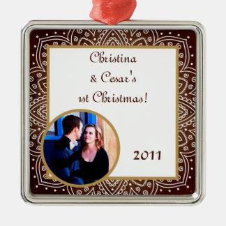 Brunt för prydnad för personlig beställnings- julgransprydnad metall