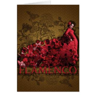 Brunt för svart för konst för flamencoSpanien dans Hälsningskort