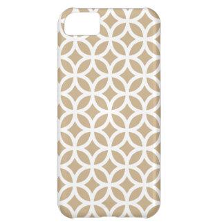 brunt geometriskt för iphone case \ för Sand iPhone 5C Fodral