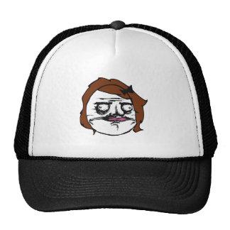 Brunt kvinnligt mig Gusta komiskt ursinneansikte M Baseball Hat