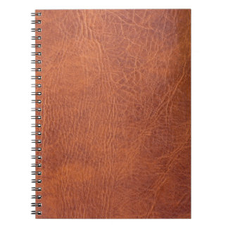 Brunt läder anteckningsbok