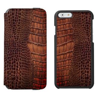 Brunt läder för alligatorklassikerreptil (fauxen)