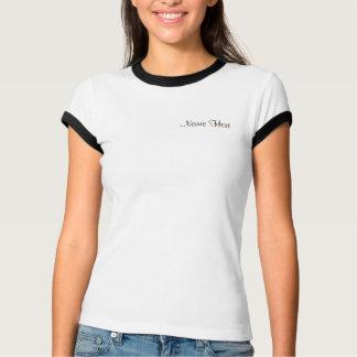 Brunt möhippa för tryck för vitgiraff djur tee shirt