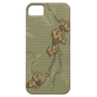 Brunt murgröna- och druvalöv iPhone 5 skal