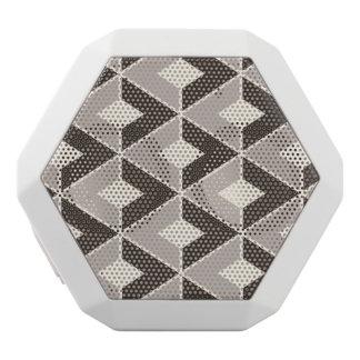 Brunt och beige geometriska diamanter vit bluetooth högtalare