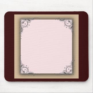 Brunt och rosa bröllop för kakao musmatta