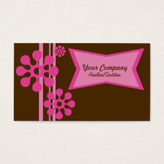 Brunt och rosa Retro visitkort