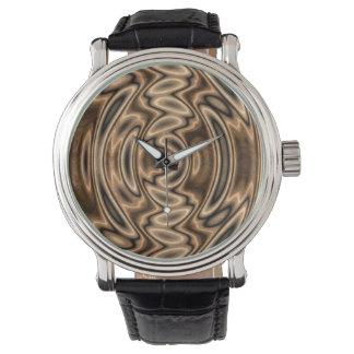 Brunt- och svartabstrakt virvlar runt klockan