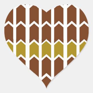 Brunt panelstaket för gräns hjärtformat klistermärke