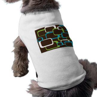 brunt retro kvadrerar hunddräkten tröja för hundar