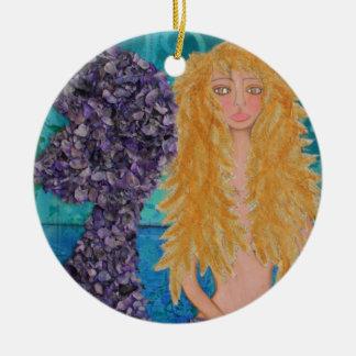brunt synade mermaid.jpg julgransprydnad keramik