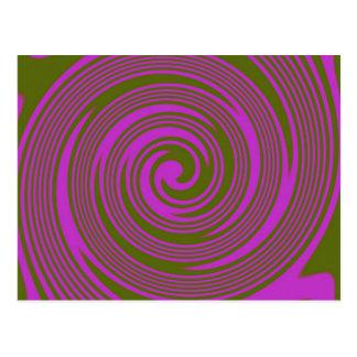 Bruntet och rosan virvlar runt vykort