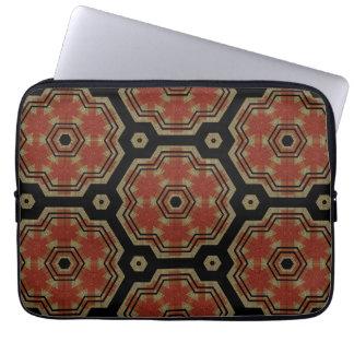 Bruntet Retro kräm pricker det Seamless mönster fö Laptop Fodral