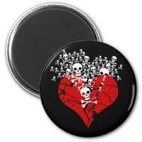 Bruten hjärta med döskallar