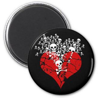 Bruten hjärta med döskallar magnet