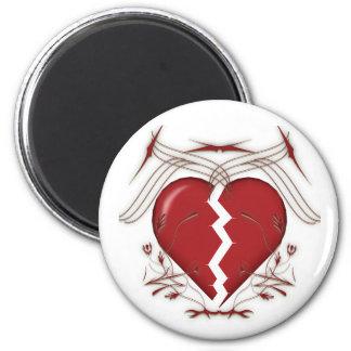Bruten hjärta & stam- diagram: magnet