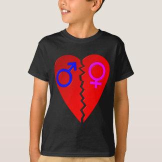 Bruten hjärta t-shirts