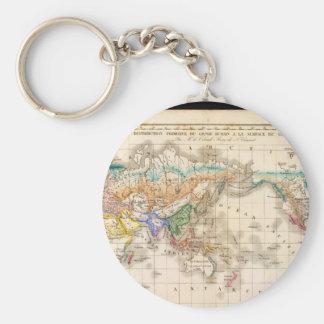 Brutet besegra världskarta 15 rund nyckelring