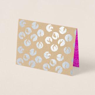 Brutet silver för polka dotskort | omkullkastar folierat kort