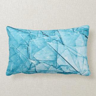 brutna glass blått kudder lumbarkudde