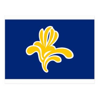 Bryssel (Belgien) flagga Vykort