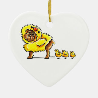Bryssel Griffon chickpåsk Julgransprydnad Keramik