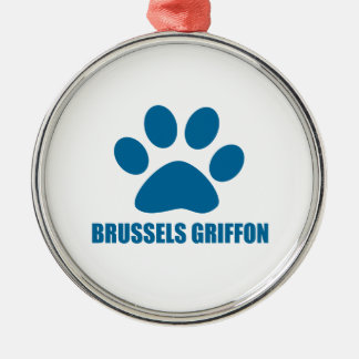 BRYSSEL GRIFFON HUND DESIGN JULGRANSPRYDNAD METALL