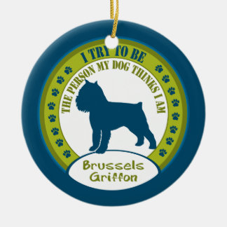 Bryssel Griffon | julprydnad Julgransprydnad Keramik