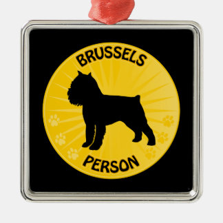 Bryssel Griffon Xing Julgransprydnad Metall