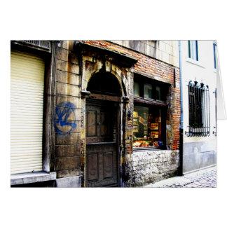 Bryssel Sidestreet Hälsningskort