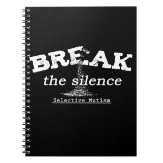 Bryt tystnaden anteckningsbok