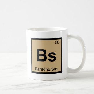 Bs - Periodiskt bord för baryton- Saxmusikkemi Vit Mugg