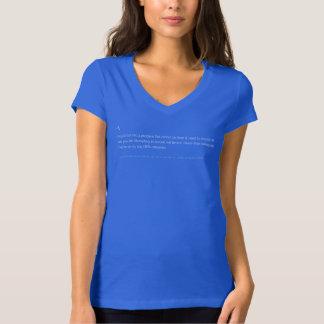 BSoD blåttt-Skjorta av död - DET Techservice (f) Tshirts