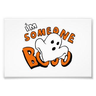 Bu - tecknadspöke - bebisspöke - rolig spöke fototryck