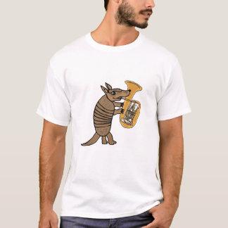 BUbältdjur som leker TubaT-tröja Tee Shirt