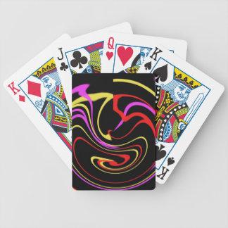 bubbelpool av färg spelkort
