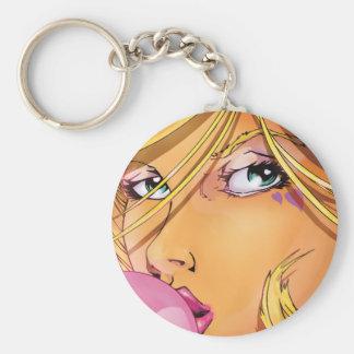 Bubbla flickan - snitt rund nyckelring