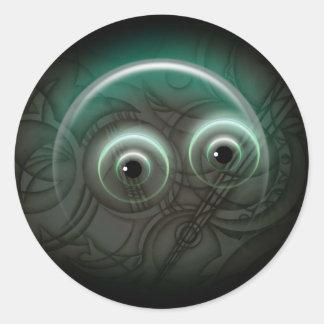 Bubbla glödkonst runt klistermärke
