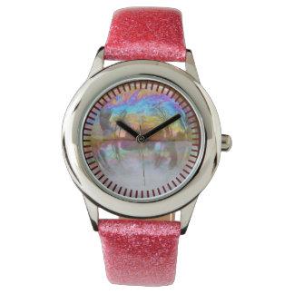 Bubbla klockan för den Time den rosa Armbandsur