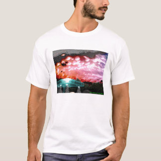Bubbla molnet Remix T-Shirten/vit stojar samlingen T Shirt