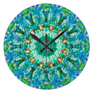 Bubbla-Mosaiken tar tid på I Stor Rund Klocka