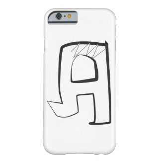 "Bubbla vinkelformigt stilbrev ""A "" för grafitti, Barely There iPhone 6 Skal"