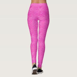 Bubblar den rosa champagnepopet för neon sjalen leggings