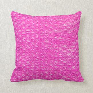 Bubblar den rosa champagnepopet för neon sjalen prydnadskudde