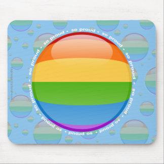 Bubblar glad lesbisk pride för regnbåge flagga mus matta