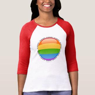 Bubblar glad lesbisk pride för regnbåge flagga t-shirts