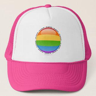 Bubblar glad lesbisk pride för regnbåge flagga truckerkeps