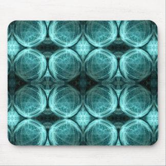 Bubblar i aquablått musmatta